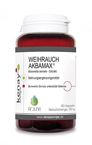AKBAMAX | Weihrauch extrakt | Boswellia serrata | Boswelliasäure | 90 Kapseln|Kenay Europe