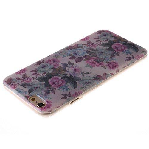 Ooboom® iPhone 8/iPhone 7 Hülle TPU Silikon Gel Ultra Dünn Schutzhülle Weich Stoßstange Handy Tasche Case Cover für iPhone 8/iPhone 7 - Menschlicher Mond Rose