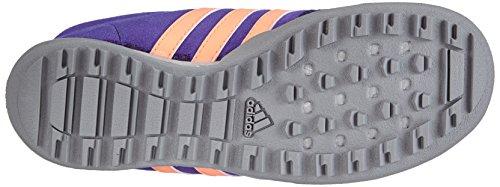 adidas Performance - Daroga Leather, Scarpe da trekking per bimbi Blu (Semi Night Flash S15/Flash Orange S15/Mid Grey S14)