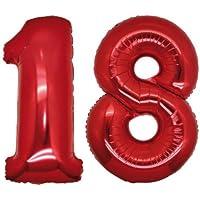 Globos número 18 foil helio para la decoración fiesta de cumpleaños altura ...