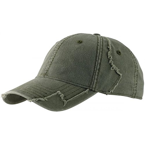 Lipodo Basecap Damen/Herren - Cap 100% Baumwolle - Baseballcap One Size (55-60 cm) - Grün - Used Look