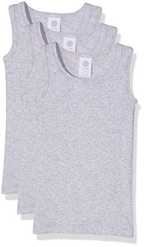 Sanetta 333735 Camiseta de Tirantes, Gris (Hellgrau Melange 1646), 116 cm (Pack de 3 para Niños