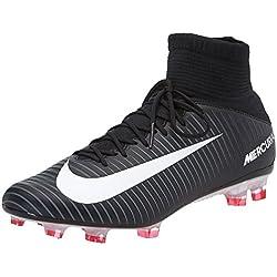 Nike Mercurial Veloce III DF FG, Scarpe per Allenamento Calcio Uomo, Nero (Black/White/DK Grey/Univ Red), 43 EU