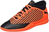 Puma Unisex-Kinder Future 2.4 IT Junior Fußballschuhe, Schwarz Black-Shocking Orange 02, 32 EU