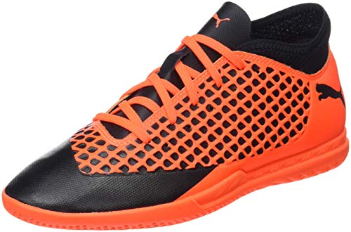 Puma Unisex-Kinder Future 2.4 IT JR Fußballschuhe, Schwarz Black-Shocking Orange 02, 34 EU