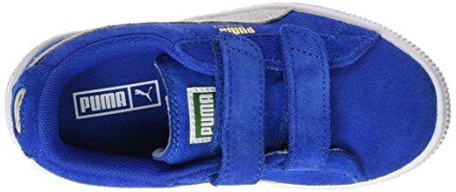 Puma Unisex-Kinder Suede 2 Straps Ps Low-Top Blau (snorkel blue-puma white 02)