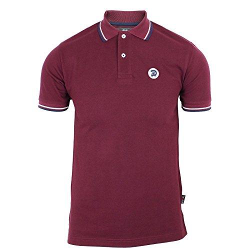 trojan-records-polo-shirt-herren-maroon-piquet-klassische-gekippt-retro-modern-top