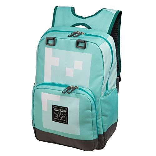 Minecraft Offizielle Kinder/Kinder Diamond Armor Große Schulrucksack (Einheitsgröße) (Blau) 100% Polyester Diamond