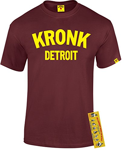 Kronk Boxe Palestra Detroit da uomo T shirt Klitschko Thomas Hearns Emanuele Steward Maroon M