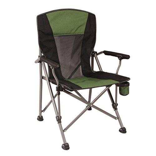HM&DX Extérieure de chaises pliantes,Portable Chaises de camping Heavy duty Chaise de plage pliante Avec Porte-gobelet Chaises pliantes Pour Gens lourds Jardin camping pêche randonnée picnic-vert