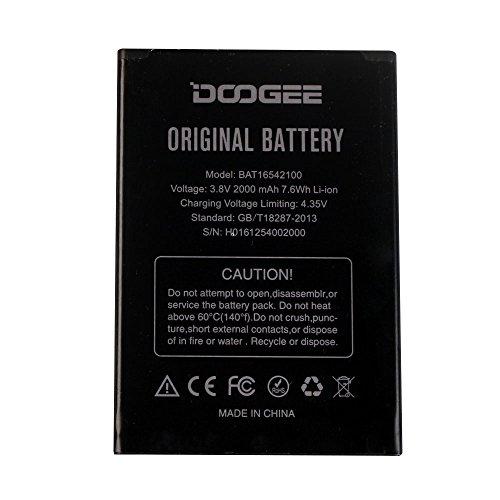 ocolor Handy Akku Ersatz Li-ion Backup Akku (2000mAh) für Doogee X9Mini in Schwarz Mini Backup