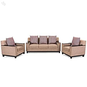 d9f5b3f50d7 Royal Oak Milan Five Seater Sofa Set 3-1-1 (Brown)  Amazon.in  Home ...