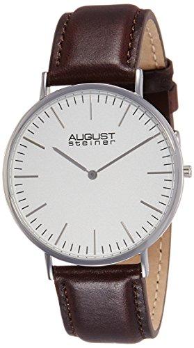 413X9dglhZL - August Steiner Silver Mens AS8084XBR watch