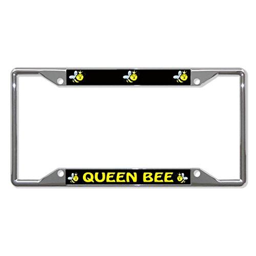 Queen Bee Tier-Metall-Kennzeichenrahmen mit 4 Löchern für Männer und Frauen, perfekt für Auto-Garadge
