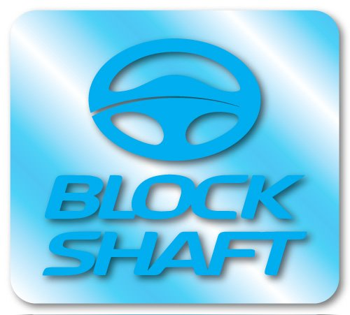 Kit 2 ADESIVI PER AUTO BLOCK SHAFT AZZURRI Europa stickers decals mercedes audi bmw NEW!