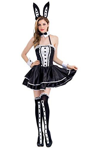 Zauberin Kostüm Sexy - Kostüm Magierin Sexy Kostüm Damen Frauen Zauberin Faschingskostüm Halloween Kleid Cosplay Schwarz M