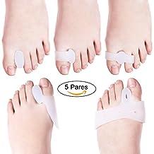 LOETAD 10Pcs Separador de Dedos Corrector de Juanetes Bunion Corrección Enderezador de Dedos Grandes Protección del Antepié
