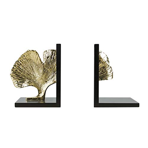 LPRWEC Schwarz Harz Kreative Skulptur Goldene blätter buchstützen Handgemachte Statue Home Study Desktop Büro Decor Schrank Handwerk Kunst Ornamente Skulptur Durable Skulptur Geschenk -
