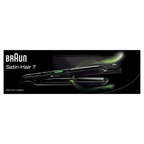 Braun Satin Hair 7 ST730 - Plancha de pelo con placas de cerámica y tecnología iónica, color negro