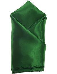 Emerald Green Mens Pocket Square Plain Coloured Satin Hanky/Handkerchief *UK SELLER*