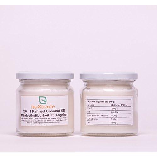 3 Glser 3x200ml Refined Coconut Oil Kokosnussl L Kochen Kokosnuss Kokosl Kokosfett