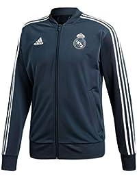 adidas 2018-2019 Real Madrid Knitted Presentation Jacket (Dark Grey) f49ffd9c2f84c