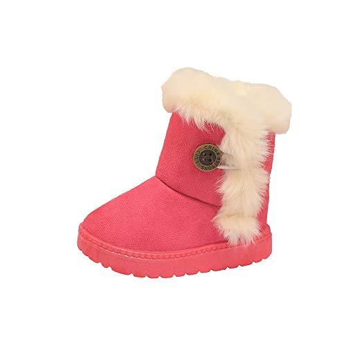 Botas Militares de Nieve Altos para Niñas Pelo Invierno PAOLIAN Zapatos  Bebés Niñas Primeros Pasos Recién e3ab286f637