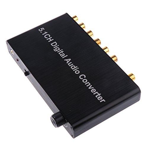 Almencla 5.1 Digital Audio Converter Decoder SPDIF Koaxial Zu DTS AC3 Für DVD Player M4a Aac Converter