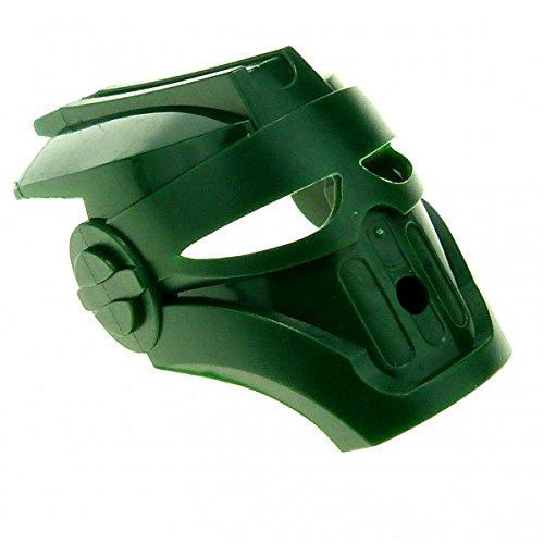 Bausteine gebraucht 1 x Lego Bionicle Figur Kopf Maske dunkel grün Kanohi Mask Mahiki TOA Metru Technic 47307
