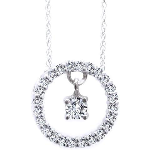 1/2ct–Collar Diamantes en movimiento. Baila la Música de su corazón TM. 14K Gold con cadena de 18