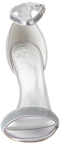 Guess Footwear Dress Sandal, Scarpe con Cinturino Alla Caviglia Donna Argento