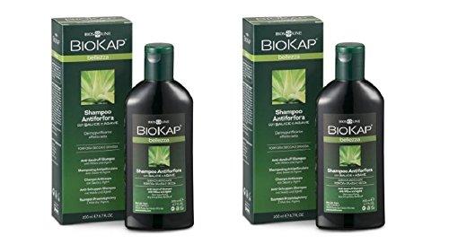 biosline–Biokap Anti-Schuppen-Shampoo 2Packungen 200ml, Antischuppen, Dermopurificante, sebo-equilibrante, erfrischend