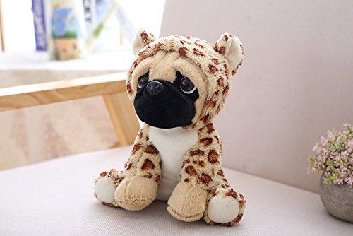 M-import Plüschtier Hund – Mops mit Sweet Kleidung – ideal Plüsch Kuscheltiere für Kinder Größe 20 cm (Giraffen ()