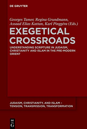 Exegetical Crossroads: Understanding Scripture in Judaism, Christianity and Islam in the Pre-Modern Orient (Judaism, Christianity, and Islam - Tension, ... Transformation Book 8) (English Edition)