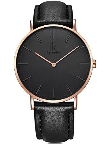 alienwork-quarz-armbanduhr-elegant-quarzuhr-uhr-modisch-zeitloses-design-klassisch-rose-gold-schwarz