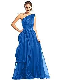 kekafu Una línea Princess V-cuello Palabra de longitud satinado encaje vestido de noche formal con pliegues…