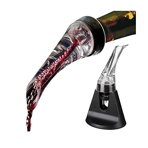 FosFun aireador de vino Pourer - airea Pourer Boquilla para rojos y Vinos Blancos - Decantar su vino con elegancia y sencillez
