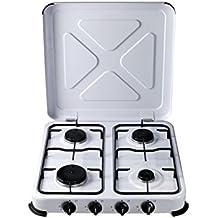 Cocina portatil de gas 4 fuegos