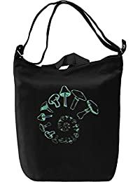 LSD Psychedelic Shrooms Forever Leinwand Tagestasche Canvas Day Bag| 100% Premium Cotton Canvas| DTG Printing|
