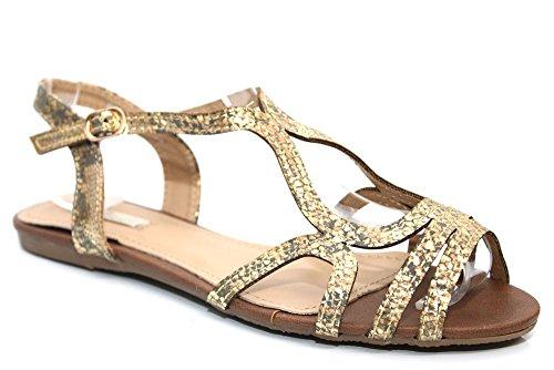 Mr Shoes , Chaussure ouverte à l'arrière femme Doré