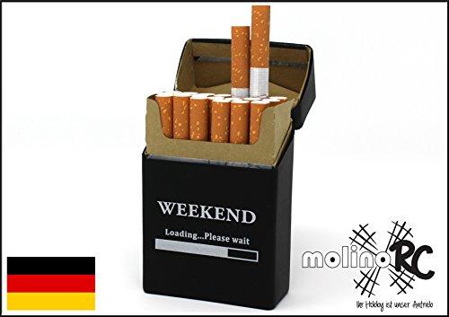 Zigaretten-box aus Silikon | Weekend - Zigarettenhülle | Zigarettenetui | passend für ein Zigarettenschachtel in Standardgröße - auch passend für die neuen 21er Schachteln | Expressversand aus BRD | molinoRC® (Deutsche Zigaretten-etui)