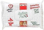 Italian Pet Salviette Igienizzanti per Animali Domestici - Salviettine Disinfettanti Umidificate alla Clorexid