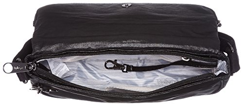 Kipling - Earthbeat S, Borse a tracolla Donna Nero (Lacquer Night)