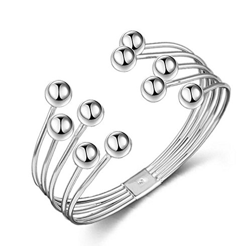 Hosaire 1X Elegante brazalete de perlas de cristal de color pulsera de