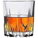 Jaipurwala Crystal 300ml Whisky Glass(White) - Set of 2