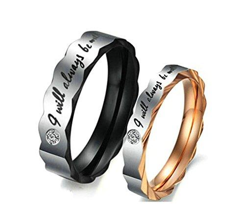 Jiedeng Schmuck Herren Ringe aus Edelstahl Ring mit
