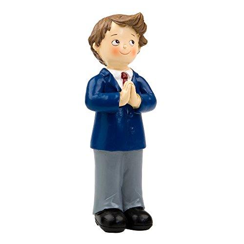 Mopec y163–Figur Kuchen Kommunion Junge mit Krawatte Weinrot, 2-er Pack