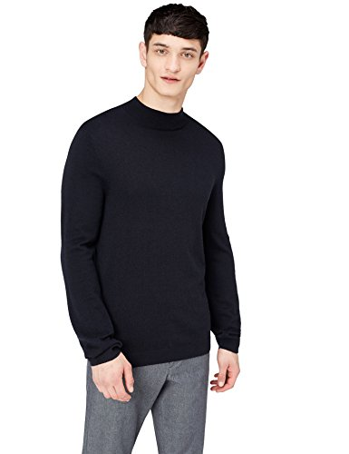 Top Herren Trachten - find. Turtle Neck Pullover, Schwarz, 50