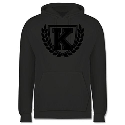 Anfangsbuchstaben - K Collegestyle - Männer Premium Kapuzenpullover / Hoodie Dunkelgrau