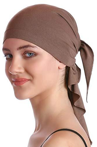 Deresina Headwear Unisex Baumwolle Bandana Fur Haarverlust (Mink)